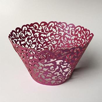 12 pcs Classic Filigree Lace Cupcake Wrappers Wrapper for