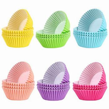 600 pcs Cupcake liners Rainbow Standard Paper Baking Cups
