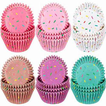 600 Pieces Candyland Party Cupcake Liners Colorful Paper