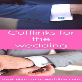 Cufflinks for the wedding Among the countless details that you have to get in time for the wedding