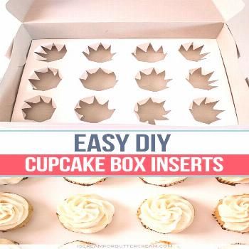 DIY Cupcake Box Inserts Traveling with cupcakes just got easier. and these DIY Cupcake Box Inserts