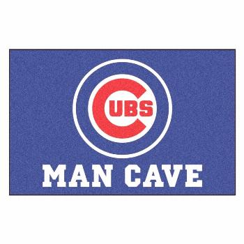 FANMATS MLB - Chicago Cubs 19 in. x 30 in. Indoor Man Cave Starter Area Rug-22387 - The Home Depot