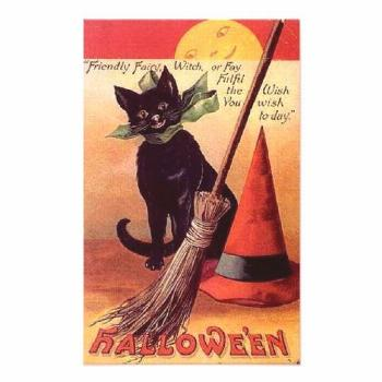 Friendly Fairy Vintage Halloween Poster Friendly Fairy Vintage Halloween Poster  halloween decorati