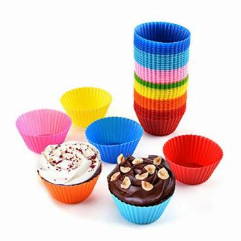 Genericb Silicone Muffin Cups, Silicone Cupcake Baking Cups