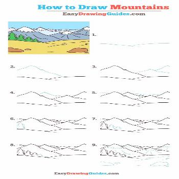 How to Draw Mountains - Really Easy Drawing Tutorial How to Draw Mountains - Really Easy Drawing Tu