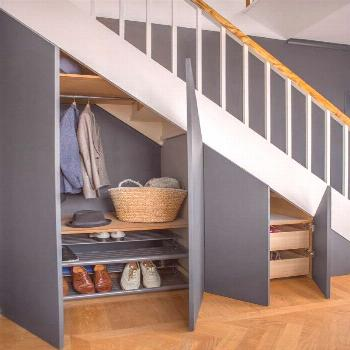 In the hallway there are cupboards, cupboards next to a bedroom and a ...#bedroom