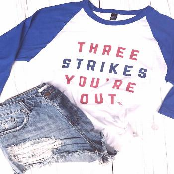 Shop my Cute Cubs Gear - and more favorites! - Lake Shore Lady -  Three Strikes You're Out Baseba