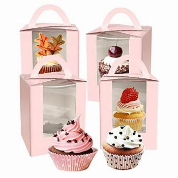 WANBAO Single Cupcake Containers, Gift Boxes With Window