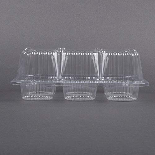 40 Cupcake Containers Plastic Disposable | High Dome Cupcake